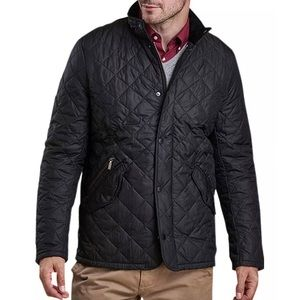 Barbour Chelsea Sportsquilt Water-Resistant Quilted Jacket, Black Size XL NWOT